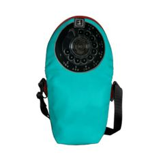 Vintage Rotary Phone Dial Rickshaw Messenger Bag--Believe it or not, there was a time when phones didn't have to be smart. They weren't expected to text, email, tweet, or surf the interwebs. This Vintage Rotary Phone Dial Rickshaw Messenger Bag will make you feel like you are living in a simpler time. #Bags #Turquoise #Red #Nostalgic #Mid-century #Retro #Vintage #Zazzle #Phones