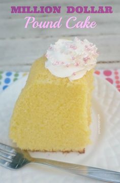 This Pound Cake is extremely moist and feather light ~ definitely worth the Million Dollar name !