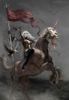 Fifth Horsewoman by Karichristensen.