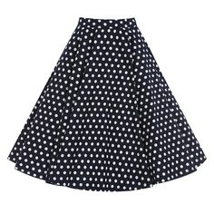 Peggy Navy Polka Dot Circle Skirt | Vintage Style Skirts - Lindy Bop