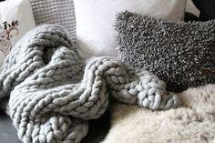 Chunky Knit plaid - ich war dann mal stricken