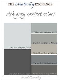 Favorite Gray Cabinet Colors