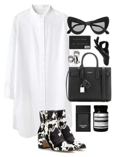 """///"" by mimiih ❤ liked on Polyvore featuring moda, Tsumori Chisato, Yves Saint Laurent, Tom Ford, Illesteva, Gianvito Rossi, Aesop, Thelermont Hupton, MTWTFSS Weekday ve women's clothing"