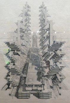 Urban Design Proposal for Lower Manhattan Expressway, 1973-74  Paul Rudolph and Ulrich Franzen