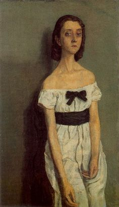 """Girl With Bare Shoulders""-Gwen John, Post-Impressionism Is she guilty or suspicious? Gwen John, Mary John, Camille Claudel, Figure Painting, Painting & Drawing, Mark Rothko, Rodin, Portrait Art, Portrait Paintings"