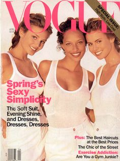 inoubliablemodelarmy: Wake Up Call  Bridget Hall, Brandi Quinones & Niki Taylor  US Vogue - April 1994  Photographer - Herb Ritts