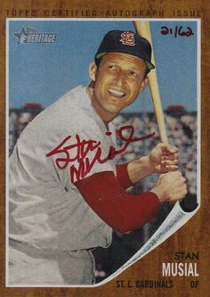 stan musial baseball card - Google Search