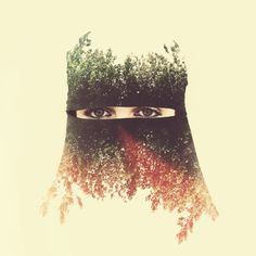 Double exposure photography by Yaser Almajed, via 500px blog