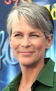 "Jamie Lee Curtis...""nothing will put her down by letting those strands go gray."" (Is Gray the New Platinum. 3 Aug 2010. lemondrop.com)"
