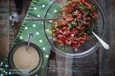 The South Sudanese love a good, chopped tomato salad on the side of their meals. Often, it's no more than tomato, onion, and hot, green chili peppers... perhaps a spot of parsley... But other times...