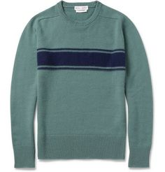 Michael Bastian Striped Cashmere Sweater | Made in Italy from the softest cashmere, Michael Bastian's handsome sweater feels as good as it looks. The navy stripe is crafted in a reverse stockinette knit for a subtle texture contrast. | MR PORTER