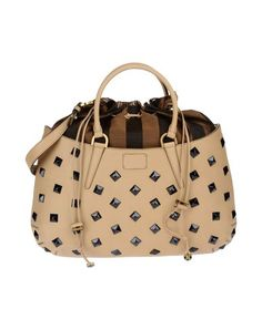 FENDI Beige Calf-skin leather, Textile fibers Details: handbags, medium, techno fabric, multicolor pattern, logo detail, metal applications, lacing, double handle, lined interior, internal zip pocket, removable shoulder strap Width 13.26 inches Height 12.87 inches Depth 3.32 inches 14.43 inches