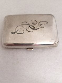 Vintage Sterling Cigarette case  Push button by TrendsCouture, $147.00