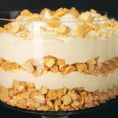 Lemon Delight Trifle Recipe- Maybe use lorna doone cookies or homemade lemon sugar cookies, also maybe add blueberries