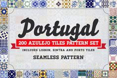 200 Seamless Portugal Azulejo Tiles #street #portuguese