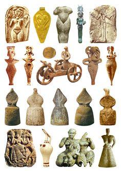 19 Goddess Sculptures from 1600-1000 BCE