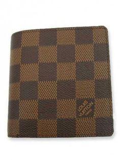 Louis Vuitton Damier Ebene Canvas 3 Credit Card Slots N60905