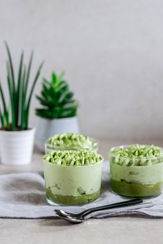 Schon mal Matcha Tiramisu probiert? Matcha, Tiramisu, Panna Cotta, Bakery, Sweets, Tea, Ethnic Recipes, Inspiration, Food