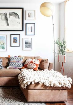 A Philadelphia Home Transformed by Hand. Living room and couch