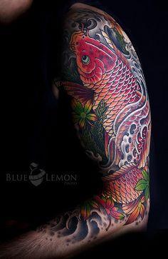 Татуировка карп кои