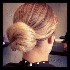 bun, simple, elegant @ Boudoir Hairdressing