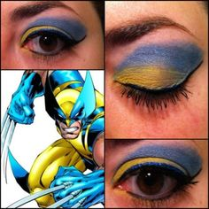 Wolverine from 90's X-Men inspired eyeshadow. #makeup