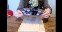 By simply taking a block of wood, Mod Podge, gel medium, and a photo that has been printed on a laser printer, this young woman shows how to make a beautiful wooden picture. All these …