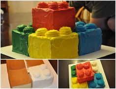 My little guy Lego 5th Birthday Cake. Making my first entry to Pinterest :)