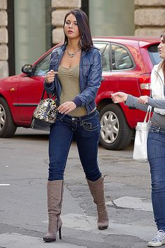 skinny jeans with boots