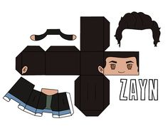 One Direction Crafts, Ome Direction, Four One Direction, One Direction Cartoons, One Direction Memes, Paper Toys, Paper Crafts, Desenhos One Direction, Imprimibles Harry Potter
