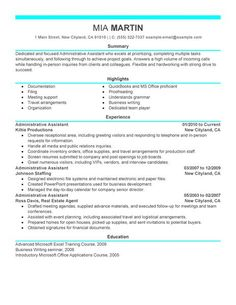 Pin By Sabrina Moore On Job Search    Sample Resume