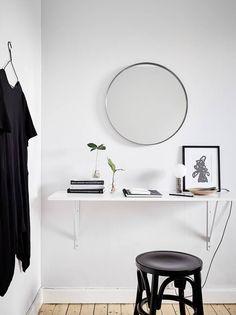 Simple home in black and white - via Coco Lapine Design blog