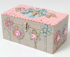 Collage Clay Jewelry Box - super fun decoden and mixed media crafting using Collage Clay and Mod Melts Matchbox Crafts, Matchbox Art, Clay Jewelry, Jewelry Box, Women Jewelry, Jewellery, Fun Crafts, Crafts For Kids, Paper Crafts