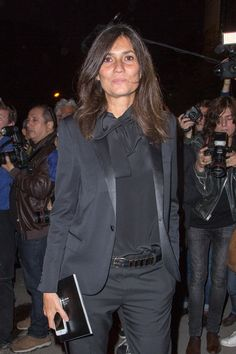 lady tux. Emmanuelle Alt, Vogue Paris