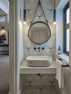 Downstairs cloakroom at this contemporary home in Hertfordshire. Basin and taps tiles Bathroom Makeover, Shower Room, Bathroom Design, Small Toilet Room, Small Bathroom, Downstairs Toilet, Small Toilet, Bathroom Decor, Contemporary Remodel