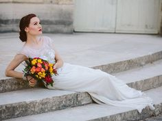 Chic and stylish bridal portrait session in Paris, hair and makeup by Honorine Makeup Studios