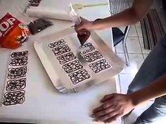 Como fazer Grades / Arabescos de Chocolate para Lateral de Bolo
