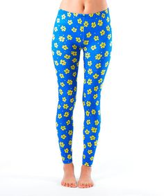 Love this Blue & Yellow Daisy Leggings by Dinamit Jeans on #zulily! #zulilyfinds