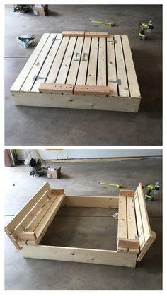 DIY Children's Sandbox