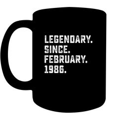 Legendary Since February 1995 Years Old Birthday Shirt Coffee Cups Mugs Birthday Cup, 21 Years Old, 8 Year Olds, Coffee Gifts, Coffee Humor, Birthday Shirts, Cool T Shirts, Coffee Cups, 21st
