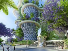 Image 1 of 29 from gallery of Vincent Callebaut's Hyperions Eco-Neighborhood Produces Energy in India. Photograph by Vincent Callebaut Architectures Architecture Environnementale, Environmental Architecture, Architecture Durable, Futuristic Architecture, Sustainable Architecture, Amazing Architecture, Biophilic Architecture, Contemporary Architecture, Vincent Callebaut