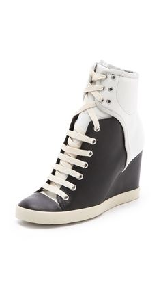 See by Chloe Two Tone Wedge Sneakers...for some reason I am obsessed with these?!
