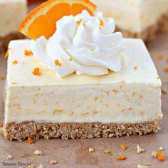 Orange Creamsicle pie Bars Recipe