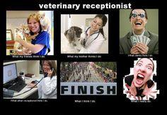 yep pretty much Veterinary Receptionist, Veterinary Technician, Vet Assistant, Horse Care Tips, Tech Humor, Pet Vet, Vet Clinics, Work Humor, Office Humor
