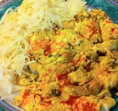 Scrambled Eggs with Cold Sauerkraut - add tbsp of water and dash of sesame oil to recipe