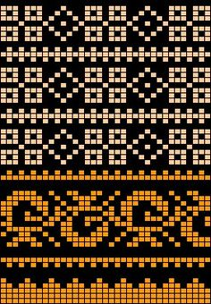 Worki mochilla i wayuu Tapestry Crochet Patterns, Fair Isle Knitting Patterns, Fair Isle Pattern, Knitting Charts, Loom Patterns, Knitting Stitches, Stitch Patterns, Crochet Shell Stitch, Crochet Chart