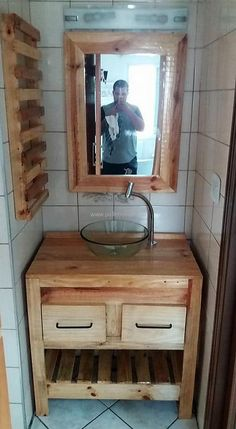 wood pallets sink #recyclingpallets