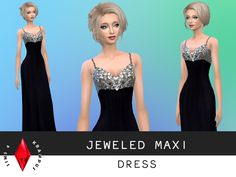 SIms4Krampus' Jeweled Maxi Dress