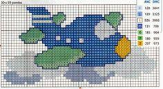 gráficos de urso ponto cruz para toalha de banho infantil com capuz - Pesquisa Google