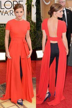 Emma Watson in Dior - Golden Globe Awards 2014
